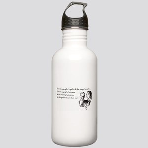 Warning Labels... Stainless Water Bottle 1.0L