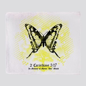 New Memorial Butterfly Throw Blanket