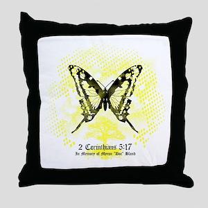 New Memorial Butterfly Throw Pillow