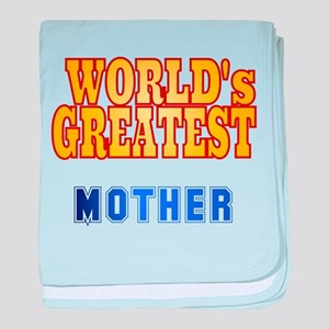 World's Greatest Mother baby blanket