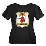USS KAME Women's Plus Size Scoop Neck Dark T-Shirt