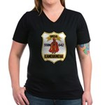 USS KAMEHAMEHA Women's V-Neck Dark T-Shirt