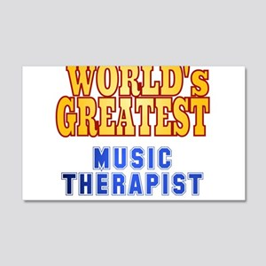 World's Greatest Music Therapist 20x12 Wall Decal