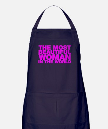 The Most Beautiful Woman in the World Apron (dark)