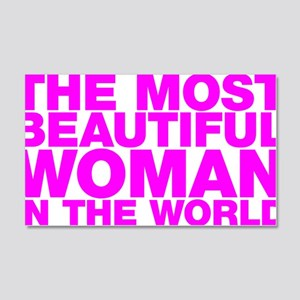 The Most Beautiful Woman in the World 20x12 Wall D