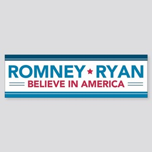 Romney Ryan Believe In America Bumper Sticker Stic