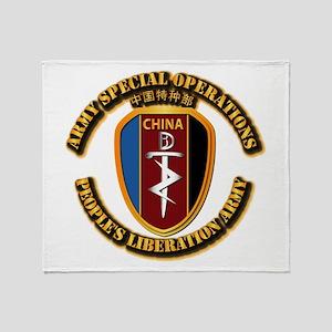 China - SOF Throw Blanket