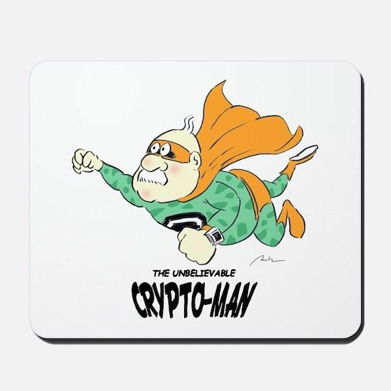 Flying Crypto-Man Mousepad