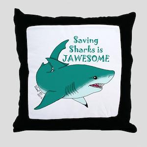 Saving Sharks Throw Pillow