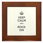 Keep Calm Rock On Framed Tile