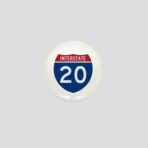 I-20 Highway Mini Button