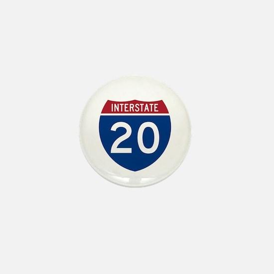 I-20 Highway Mini Button