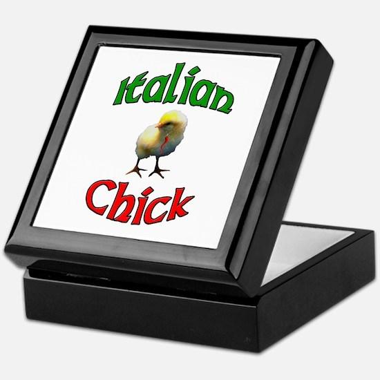 Italian Chick with Italian Horn Keepsake Box