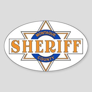 Sheriff Buford T Justice Door Emblem Sticker (Oval
