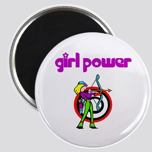Girl Power Archery Magnet