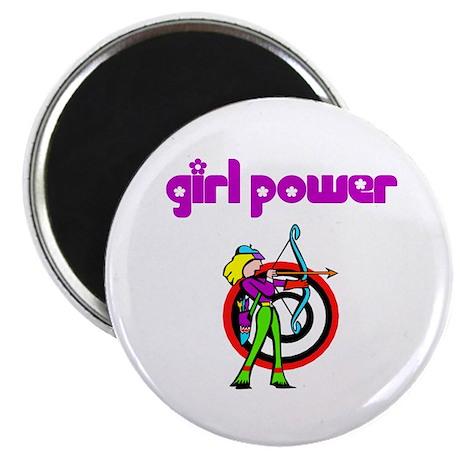 Girl Power Archery Magnet