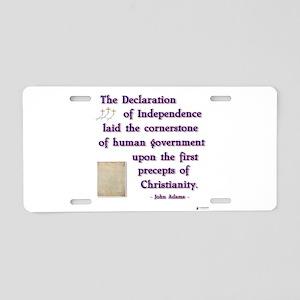 declaration cornerstone Aluminum License Plate
