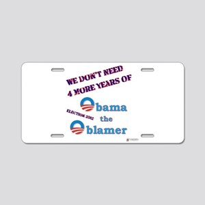 obama the oblamer Aluminum License Plate