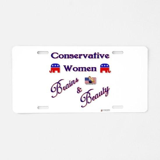 Conservative Women.png Aluminum License Plate