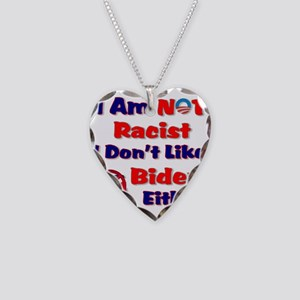 Not Racist Necklace Heart Charm