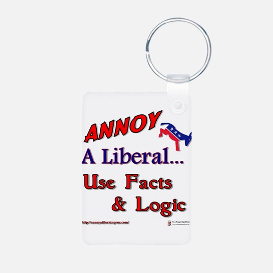 annoy a liberal.png Aluminum Photo Keychain