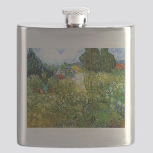 Van Gogh Marguerite Gachet in the Garden Flask
