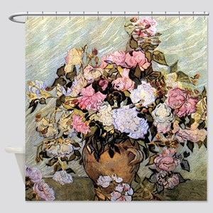 Van Gogh Roses Shower Curtain