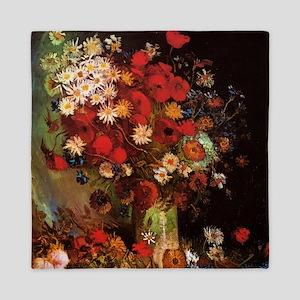 Van Gogh Flowers Queen Duvet