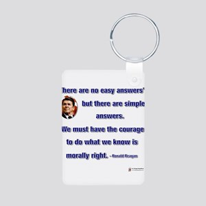 reagan morally right Aluminum Photo Keychain