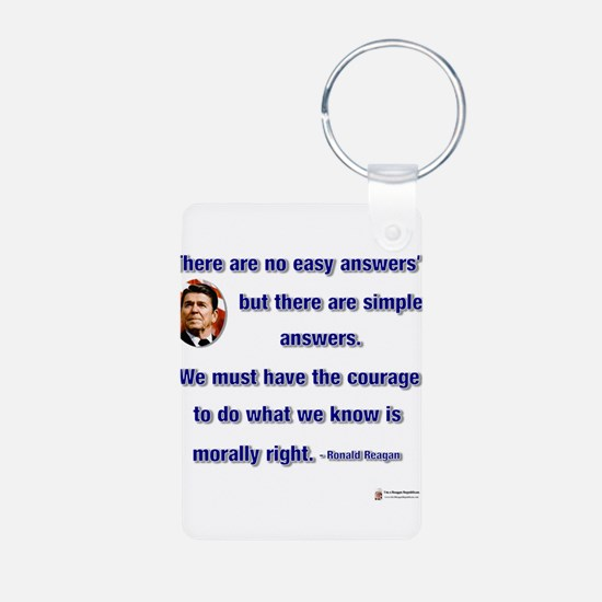 reagan morally right.png Keychains