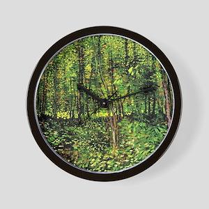 Van Gogh Trees And Undergrowth Wall Clock