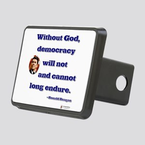 reagan without god Rectangular Hitch Cover