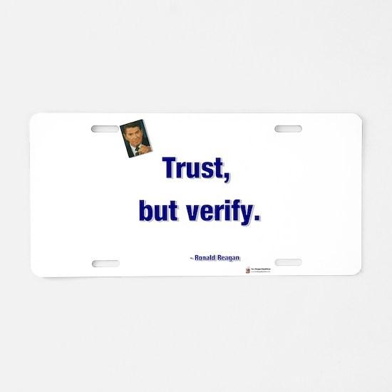 Reagan trust.png Aluminum License Plate