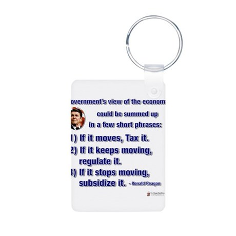 reagan govt view of economy.png Aluminum Photo Key