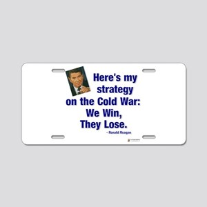 Reagan cold war Aluminum License Plate