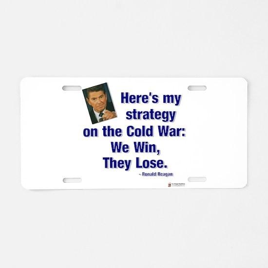 Reagan cold war.png Aluminum License Plate