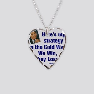 Reagan cold war Necklace Heart Charm