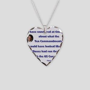 reagan ten commandments Necklace Heart Charm