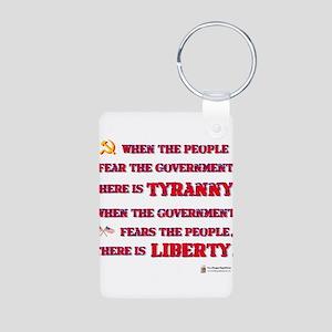 Tyranny Liberty Aluminum Photo Keychain