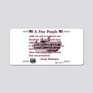 a free people Aluminum License Plate