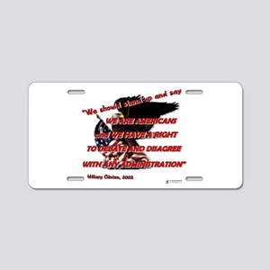 a right to debate Aluminum License Plate