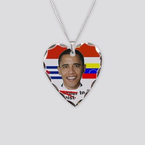 communist in chief Necklace Heart Charm