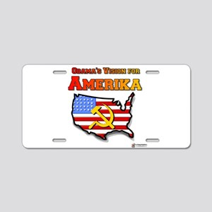 vision for amerika Aluminum License Plate