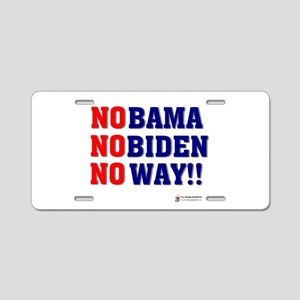 nobama nobiden Aluminum License Plate