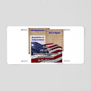 founding documents Aluminum License Plate