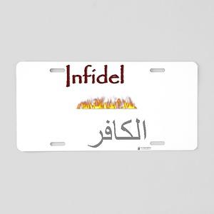 infidel Aluminum License Plate