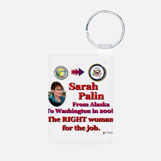 right woman for the job.png Aluminum Photo Keychai