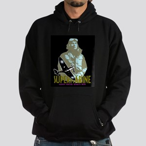 Aviation Classic Spitfire Pilot and plane Hoodie (