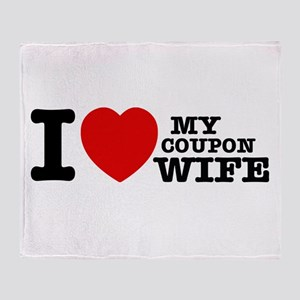 I love my Coupon Wife Throw Blanket