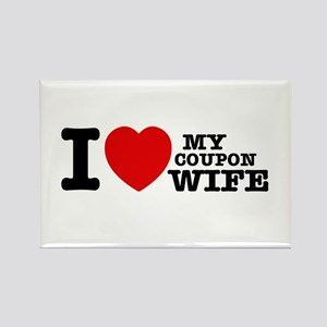 I love my Coupon Wife Rectangle Magnet